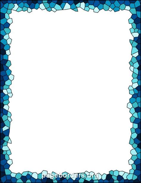 Printable Mosaic Border Use The Border In Microsoft Word Or Other Programs For Creating Flyers Microsoft Word Borders Templates