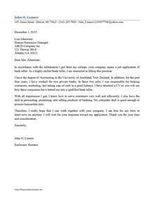 bank teller cover letter freewordtemplates net
