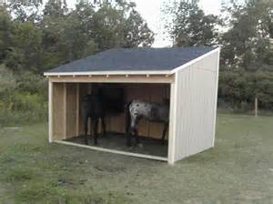 Two Stall Horse Barn Horse Shelters