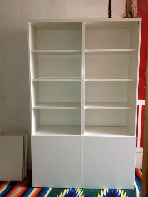 ikea besta white shelving unit bookcase