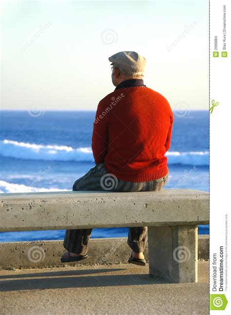 on the bench old man sitting on the bench stock images image 2999884
