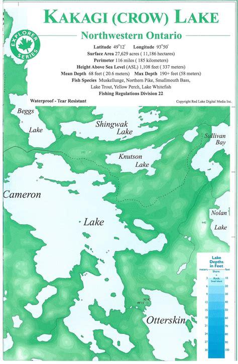 canada lake maps themapstore kakagi lakecrow lakelac seulcanada lake