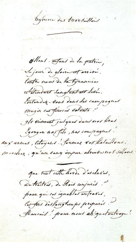 marseillaise testo les paroles de la marseillaise histoire assembl 233 e