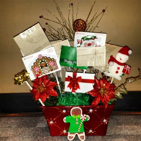 gift card bouquet christmas pinterest