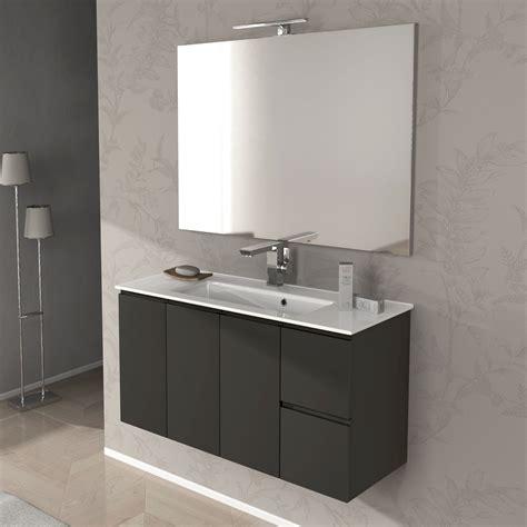 mobile x bagno mobile bagno giulia cm 100 bianco lucido e grigio talpa