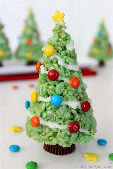 christmas tree rice krispie treats christmas decore