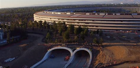 apple park new apple park drone video shows work on landscaping