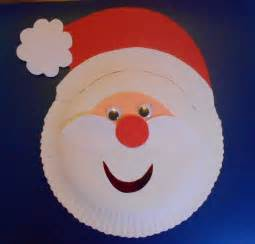 Santa Paper Plate Craft - may arts and crafts paper plate santa