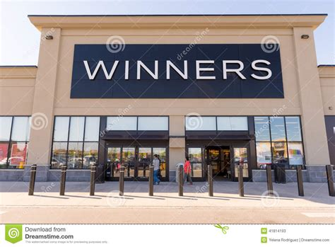 stores canada winners front of a store store facade editorial stock