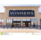 Winners Front Of A Store Facade Editorial Stock