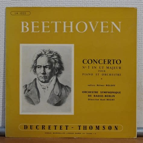 Jaketparka Karl Helmut Japan Original beethoven concerto no 1 in ut major for piano orch by helmut roloff karl rucht 10inch with