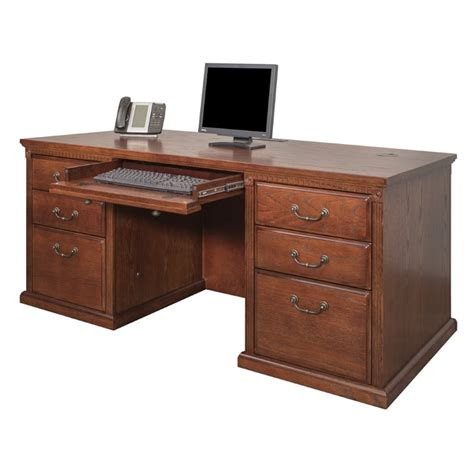 Martin Furniture Huntington Oxford Executive Double Oxford Desk