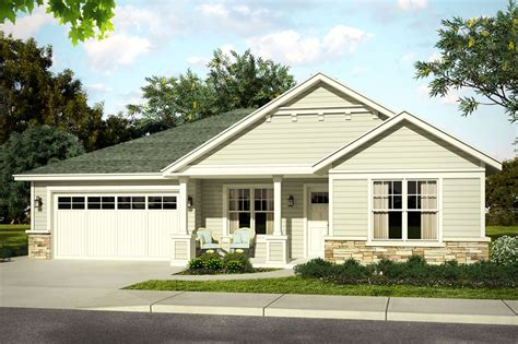 one level house plans with front porch