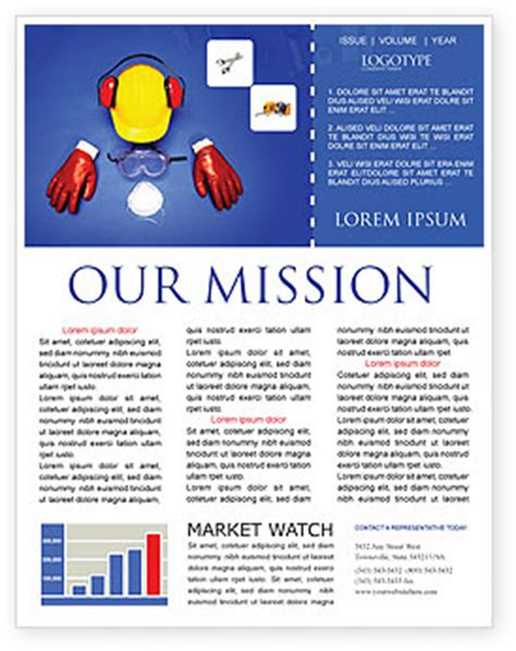 Professional Safety Newsletter Template For Microsoft Word Adobe Indesign 01784 Download Now Safety Newsletter Template