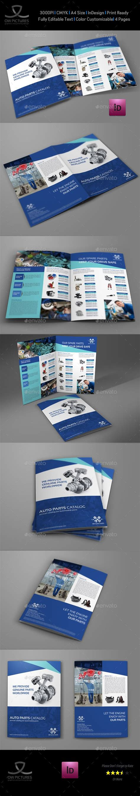 indesign bi fold brochure template auto parts catalog bi fold brochure template autos