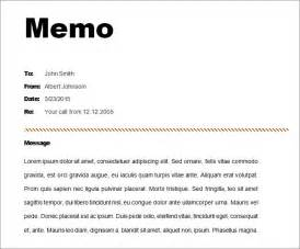 Template Of A Memo by 8 Memo Templates Free Sle Exle Format Free