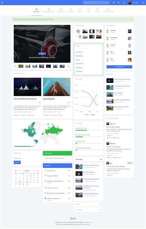 template joomla dashboard preview ja intranet responsive joomla template for