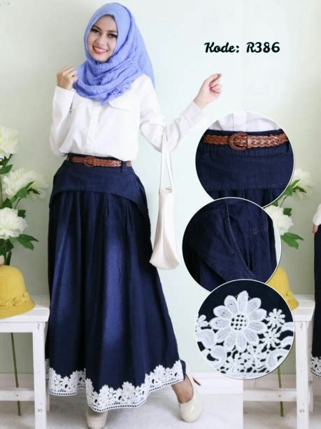 Set Rok Renda by Rok Toping Renda R386 Baju Style Ootd