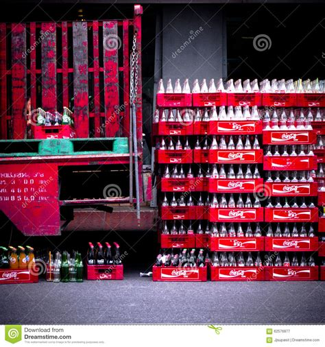 coke photography lot of coca coca cola coke chest and bottle editorial