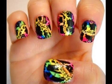 You Nails by Frank Inspired Nail Series Rainbow Crackle