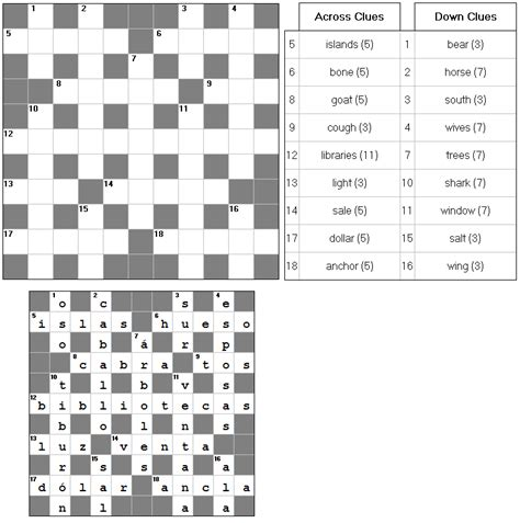 easy crossword puzzles in spanish amigos software software to learn spanish