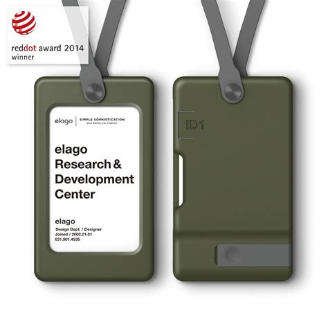 Id Card Holder Id Card Cover Id Card Kulit Id Card Name Tag 334 Usb Id Card Holder Camo Green Elago Europe