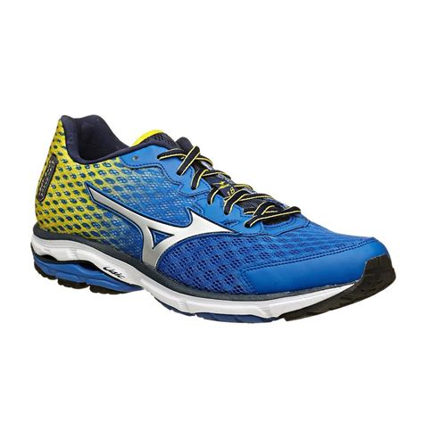 mizuno shoes wave rider mizuno wave rider 18 mens running shoes blue yellow