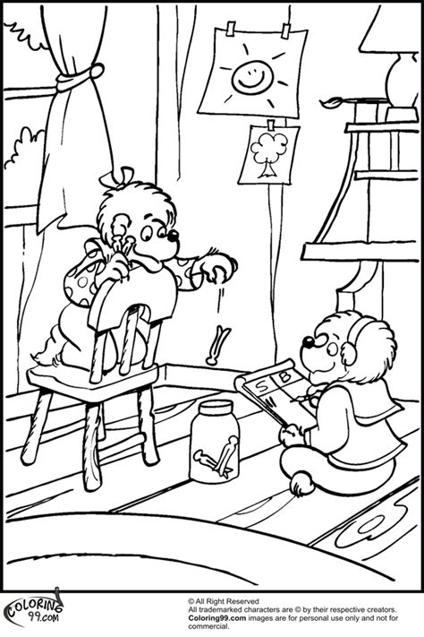 sister bear coloring page free coloring pages of berenstain bear