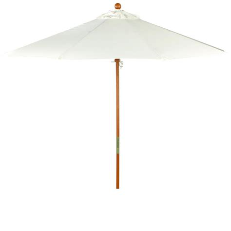 Canvas Patio Umbrellas Oxford Garden 9 Ft Octagon Wood Patio Umbrella With Pulley Canvas Canvas Ultimate Patio