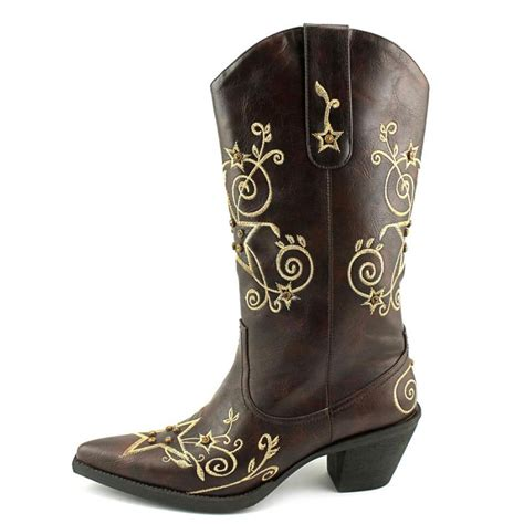 rockstar boots for roper rock leather brown western boot boots