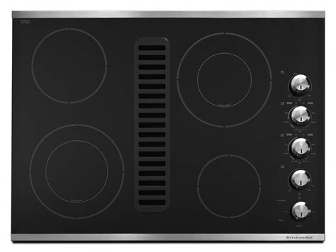 30 Inch Cooktop With Downdraft 30 inch 4 element downdraft cooktop
