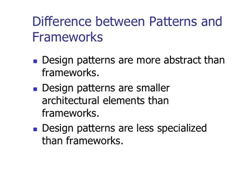 pattern types in ooad object oriented methodologies