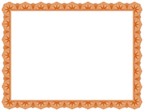 free certificate borders: clip art, page borders, and