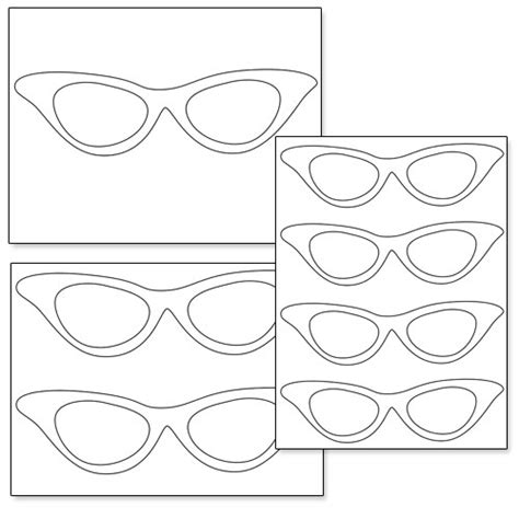 cat eye template printable cat eye glasses printable treats