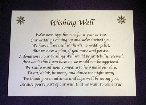 Wedding Invitation Poems by 17 Best Ideas About Wishing Well Poems On