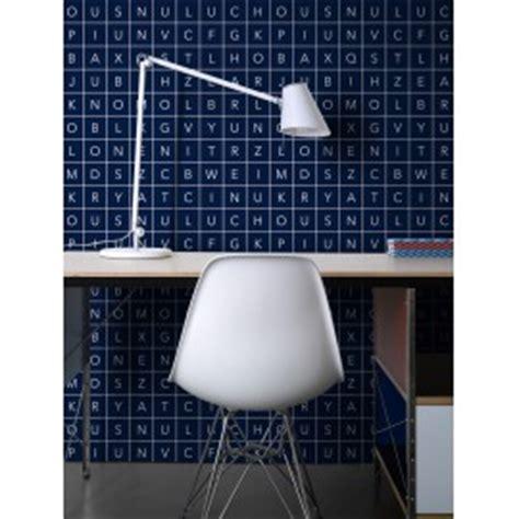 Plan Maison En U 4354 by Papier Peint Glyphs Blue Lavmi Atelier Du Passage