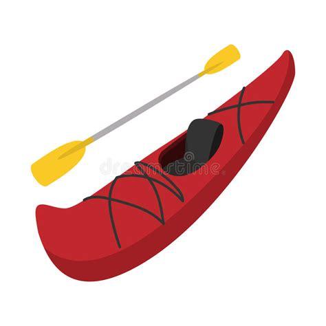 boat cartoon oar rubber boat with oar cartoon stock vector illustration
