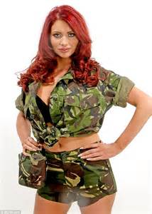 That s one way to command attention amy childs shows off her cleavage