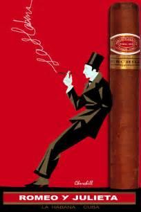 cuban tobacco poster romeo y julieta churchill fine