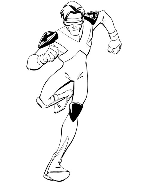 x men cyclops running coloring page h m coloring pages