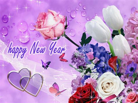 new year flower background happy new year graphics free for 2015