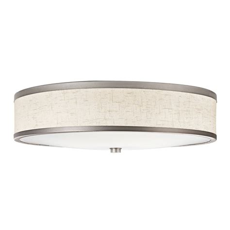 Flush Mount Fluorescent Kitchen Lighting Shop Kichler White Acrylic Flush Mount Fluorescent Light Common 2 Ft Actual 22 In At Lowes