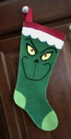 felt grinch pattern 193 best images about christmas stockings on pinterest