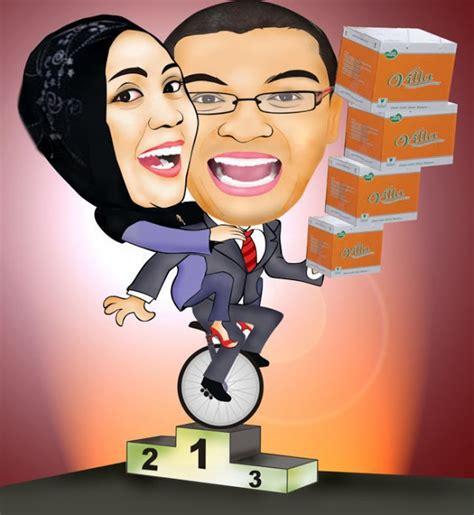 karikatur wajah digital owner kek villa pisang kaos