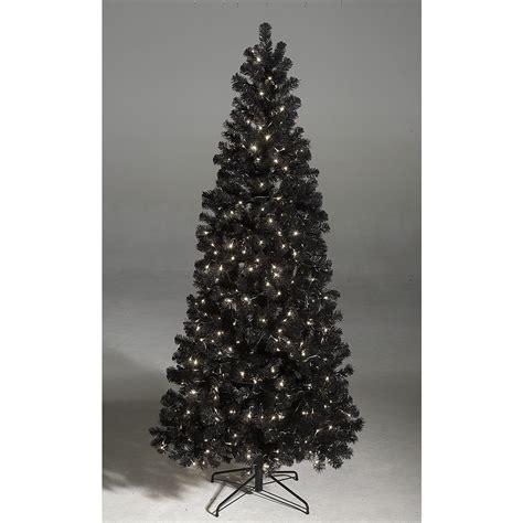 deko schwarzer weihnachtsbaum mit led 240 cm dekoration