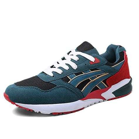 comfortable fashion sneakers cool men colorful shoes lace up suede fashion sneakers