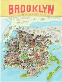 Brooklyn New York Map by Brooklyn Poster Brooklyn The Way You Envision It