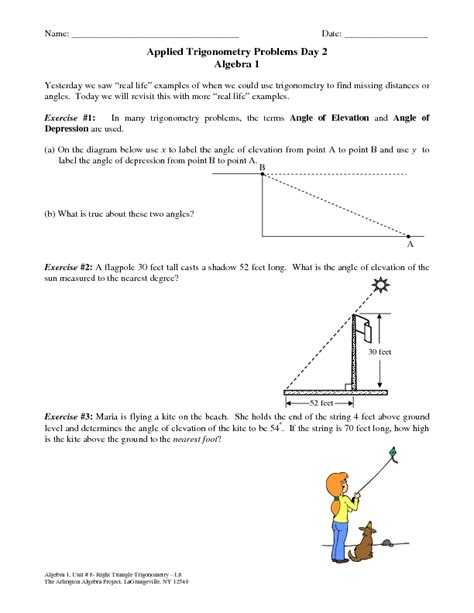 Trigonometry Review Worksheet by Trigonometry Review Worksheet Worksheets Releaseboard