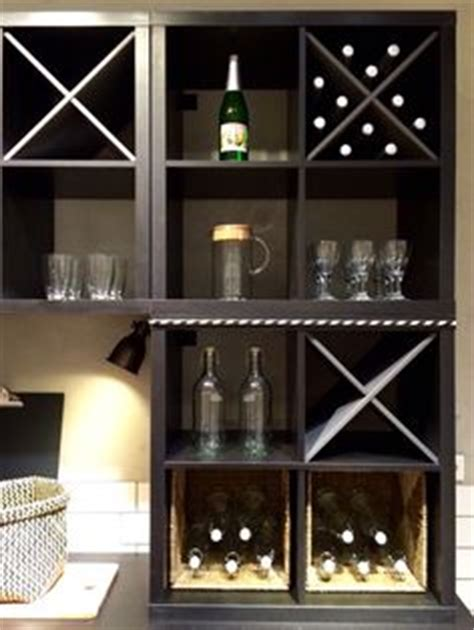 kallax wine rack added ikea doors wine holder to kallax shelving unit