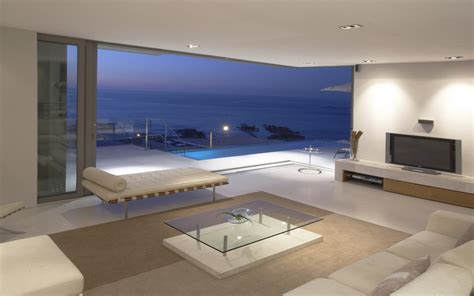 modern living interiors full wheight windows interior room with a view to the sea wallpapers and images